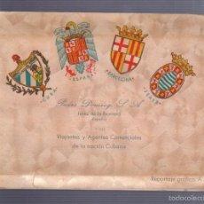 Postales: BLOCK DE 10 POSTALES. PEDRO DOMECQ S.A JEREZ DE LA FRONTERA. VIAJANTES Y AGENTES CUBANOS. LEER. Lote 57339768