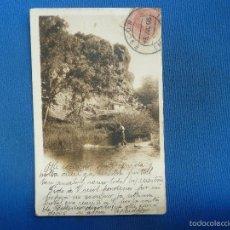 Postales: CRIADERO DE TRUCHAS EN PIEDRA. COLECCIÓN CÁNOVAS. SERIE B. AÑO 1905. Lote 57525211