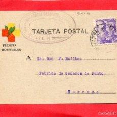 Postales: BILBAO. FRENTES Y HOSPITALES. Lote 57926219