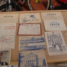 Postales: 12 TARJETAS RADIOAFICIONADO AÑOS 60. FOTO ADIC. Lote 58099316