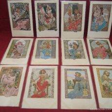 Postales: 12 POSTALES GASPAR CAMPS I JUNYENT LOS DOCE MESES DEL AÑO 1901 ED. LA HABANA CUBA. Lote 58445501