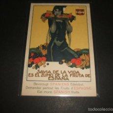 Postales: PENAGOS ILUSTRADOR FRUTA DE ESPAÑA AÑOS 30 DURÁ VALENCIA. Lote 61125135