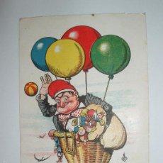 Postales: FOTO, POSTAL CATALAN EN CESTA CON JUGUETES Y GLOBOS. THOMAS, BARCELONA, P.P. 1900. Lote 61145103