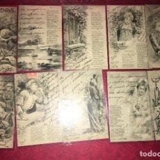 Postales: 10 POSTALES DULCES POEMAS CAMPOAMOR ILUSTRADOR CARCEDO. Lote 62359284