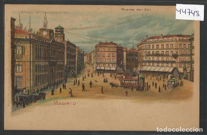 MADRID - MIRESE AL TRANSPARENTE -MIRANDO A TRASLUZ SE VE DE NOCHE - REVERSO SIN DIVIDIR -(44.748) (Postales - Postales Temáticas - Especiales)