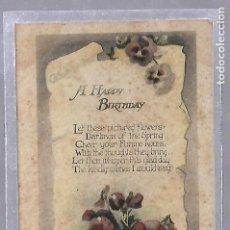 Postales - TARJETA POSTAL. CUMPLEAÑOS FELIZ. A HAPPY BIRTHDAY. IMAGEN DE CENTRO DE FLORES - 62813616