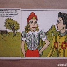 Postales: GRACIOSA POSTAL CON OBERTURA RESPUESTA AL CHISTE, SEÑORAS Y MONO. Lote 64014251