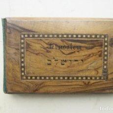 Postales: CURIOSO ESTUCHE MADERA CON POSTALES DE JERUSALEN Y FLORES. Lote 64716543