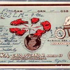 Postales: COLOMBIA, TARJETA DE RADIOAFICIONADO,BARRANQUILLA.SIN FECHA.. Lote 66978474