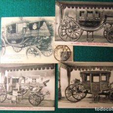 Postales: 4 POSTALES DE CARRUAJES REALES. Lote 68756441
