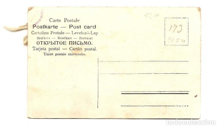 Postales: PRECIOSA POSTAL MODERNISTA CON PALOMAS Y TELA MUY ANTIGUA - SE ABRE PARA PODER ESCRIBIR - Foto 3 - 68812329