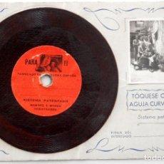 Postales: TARJETA POSTAL HABLADA ELECTROFONO – CON FOTOGRAFÍA Y MANUSCRITA AÑO 1944. Lote 70076681