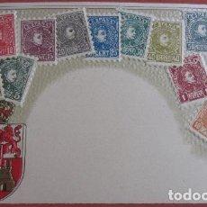 Postales: POSTAL SELLOS REVERSO SIN DIVIDIR. Lote 72131779