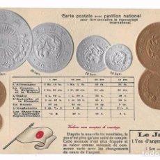 Postales: POSTAL MONEDAS DEL MUNDO - LE JAPON - H.S.M. DEP 218054 - RELIEVE - SIN CIRCULAR. Lote 72950863
