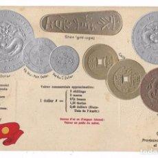 Postales: POSTAL MONEDAS DEL MUNDO - CHINA - RELIEVE - SIN CIRCULAR. Lote 72956767