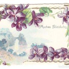 Postales: POSTAL TARJETA TROQUELADA EN RELIEVE - PAISAJE. Lote 73008615