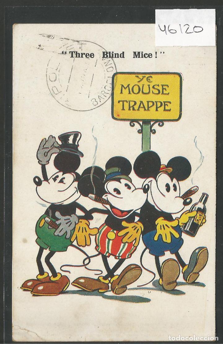 MICKEY MOUSE -POSTAL ORIGINAL AÑOS 20 -VER REVERSO- (46.120) (Postales - Postales Temáticas - Especiales)