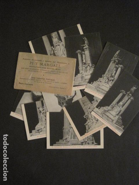 BARCELONA -MONUMENTO PI Y MARGALL-COLECCION 10 POSTALES ANTIGUAS- CON SOBRE FUNDA-VER FOTOS-(46.419) (Postales - Postales Temáticas - Especiales)