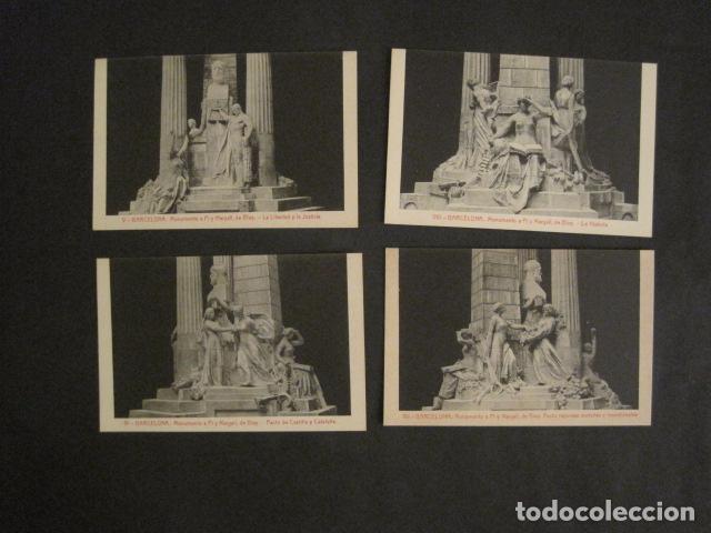 Postales: BARCELONA -MONUMENTO PI Y MARGALL-COLECCION 10 POSTALES ANTIGUAS- CON SOBRE FUNDA-VER FOTOS-(46.419) - Foto 6 - 74409239