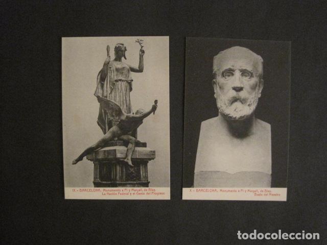 Postales: BARCELONA -MONUMENTO PI Y MARGALL-COLECCION 10 POSTALES ANTIGUAS- CON SOBRE FUNDA-VER FOTOS-(46.419) - Foto 8 - 74409239