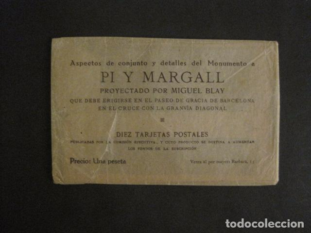 Postales: BARCELONA -MONUMENTO PI Y MARGALL-COLECCION 10 POSTALES ANTIGUAS- CON SOBRE FUNDA-VER FOTOS-(46.419) - Foto 10 - 74409239