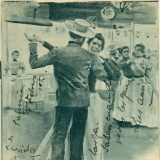 Postales: MADRID FRANQUEO MIXTO PELON Y CADETE CIRCULADA EN 1903. RARÍSIMA POSTAL. PIEZA ÚNICA.. Lote 74470935