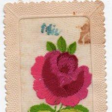 Postales: PS7395 POSTAL DE FELICITACIÓN. PAPEL Y SEDA. CIRCULADA. 1928. Lote 75603731