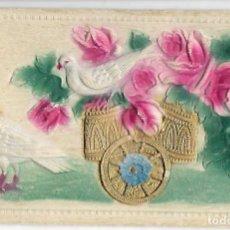 Postales: POSTAL RELIEVE PALOMAS AÑOS 20. Lote 78224365