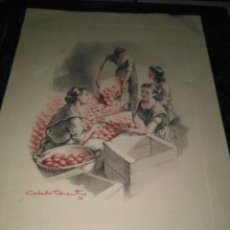 Postales: PRECIOSA TARJETA EMBALAJE DE LA NARANJA IBEROAMERICANA DE COMERCIO EXTERIOR VALENCIA 1954. Lote 81035348