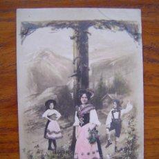 Postales: POSTAL ROMANTICA LETRAS / NUMEROS - CON LA LETRA T - CON PURPURINA - SIN CIRCULAR, SIN DIVIDIR. Lote 85873940