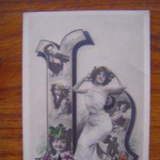 Postales: POSTAL ROMANTICA LETRAS / NUMEROS - CON LA LETRA L - SIN CIRCULAR, SIN DIVIDIR. Lote 85874120