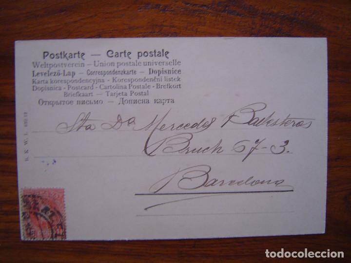 Postales: POSTAL ROMANTICA LETRAS / NUMEROS - Con la Letra M - con purpurina - sin dividir - Foto 2 - 85874500