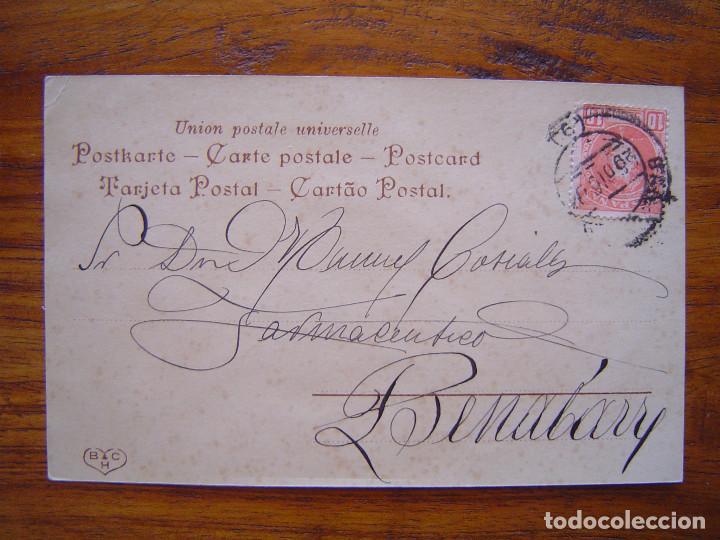 Postales: POSTAL ROMANTICA LETRAS / NUMEROS - Con la Letra C - con purpurina - sin dividir - Foto 2 - 85874708