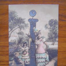 Postales: POSTAL ROMANTICA LETRAS / NUMEROS - CON LA LETRA I - CON PURPURINA - SIN CIRCULAR, SIN DIVIDIR. Lote 85874800