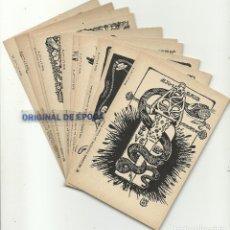 Postales: (PS-52038)EX LIBRIS POLITICOS - ILUSTRADOS POR BRUNET - VER FOTOS - COL· COMPLETA 10 POSTALES. Lote 86610856