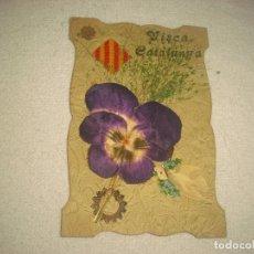 Postales: VISCA CATALUNYA . PRECIOSA Y ANTIGUA POSTAL TROQUELADA . ESCRITA. Lote 86658144
