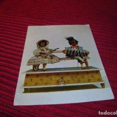 Postales: POSTAL NEGRITOS TOCANDO.CAJA MÚSICA A MANIVELA S. X I X. Lote 87446344