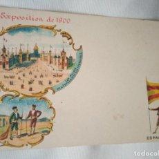Postales: ANTIGUA POSTAL DE LA EXPOSICIÓN DE 1900. ESPAGNE.. Lote 87776384