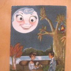 Postales: POSTAL ENAMORADOS LUNA CON OJOS MOVILES. Lote 88999240