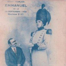 Postales: POSTAL GIGANTE FRANCES EMMANUEL 1910 - 2,27 METROS -PUBLICIDAD EN REVERSO. Lote 89395664