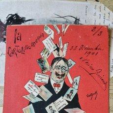Postales: ANTIGUA POSTAL DEL AÑO 1901 LA CARTOLINAMANÍA. Lote 89714200