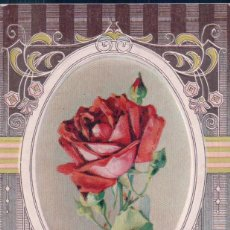 Postales: POSTAL RELIEVE - ROSA - GOLDEN MEMORIES - CIRCULADA. Lote 91562295