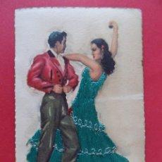 Postales: BONITA POSTAL BORDADA - TARANTAS, ILUSTRA TUSER... R-6694. Lote 93763025