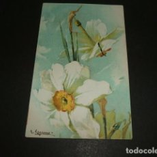 Postales: FLORES POSTAL ILUSTRADA. Lote 93947040