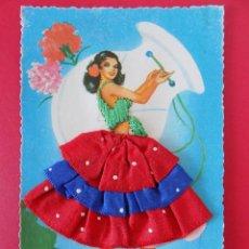 Postales: BONITA POSTAL BORDADA, CHICA VESTIDA SEVILLANA -Nº76 - EDICIONES UNEXTA ..R- 6839. Lote 94487026