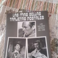 Postales: 24 POSTALES DE LOS GALANES MÍTICOS DEL CINE. Lote 95361942