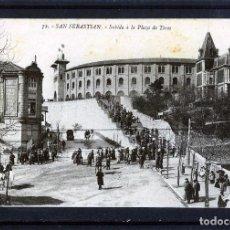 Postales: POSTAL DE SAN SEBASTIAN=SUBIDA A LA PLAZA DE TOROS=EDICIÓN G.G.GALARZA-NUEVA SIN CIRCULAR.. Lote 95593175