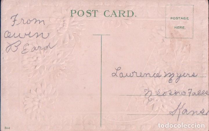 Postales: POSTAL EN RELIEVE - CONGRATULATIONS - PAISAJE - FLORES -804 - Foto 2 - 96873887