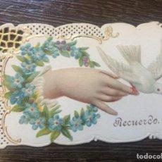 Postales: ANTIGUA POSTAL TROQUELADA Y CON RELIEVE . PPIOS 1900. MIDE APROX 7X5CMS. ESTADO EXCELENTE. Lote 97119035