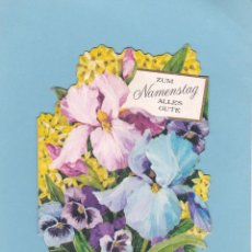 Postales: POSTAL TROQUELADA FLORES EN RELIEVE. HALLMARK. MADE IN GERMANY. Lote 97886131